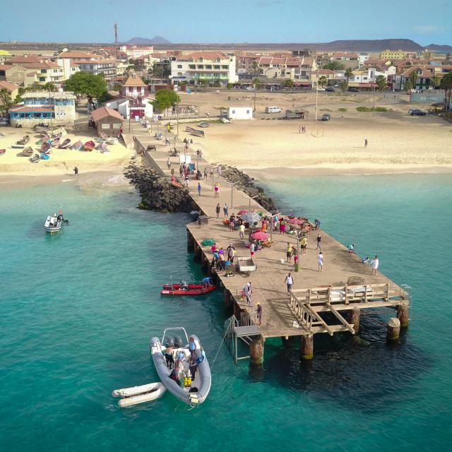 """""""Santa Maria Harbour, Cape Verde"""" stock image"""