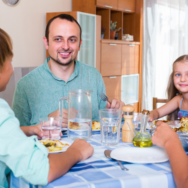 """""""Family dinner at home"""" stock image"""