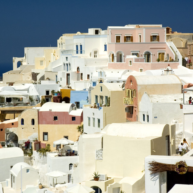 """The Village of Oia on Santorini"" stock image"