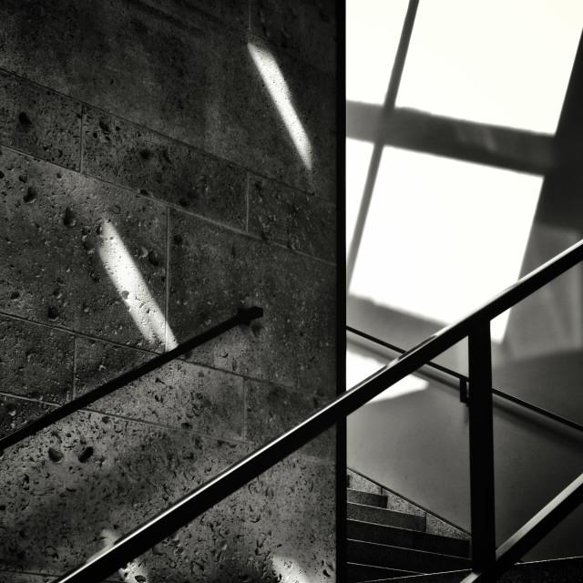 """Stairs & Shadows"" stock image"