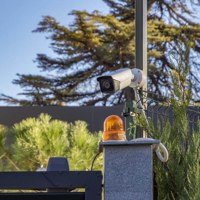 """Security camera equipment ."" stock image"