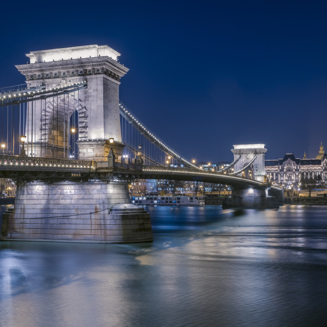 """Chain bridge Budapest"" stock image"