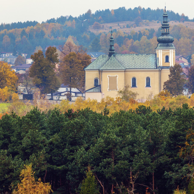 """Church in Olsztyn, Silesia"" stock image"