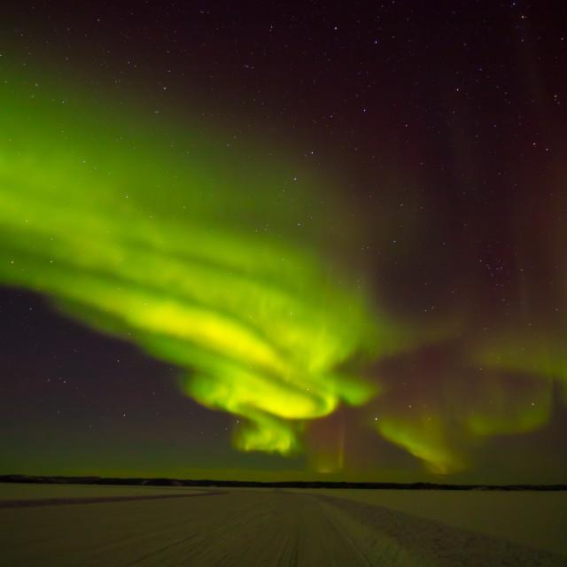 """""""Aurora Road"""" stock image"""