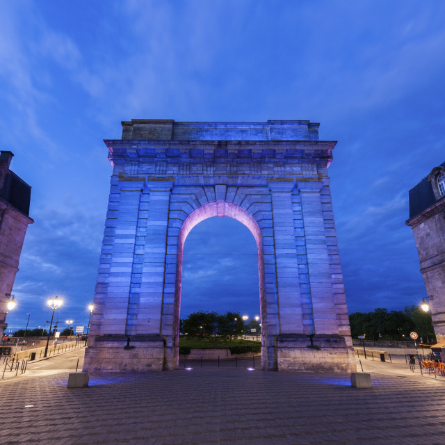 """Porte de Bourgogne in Bordeaux"" stock image"