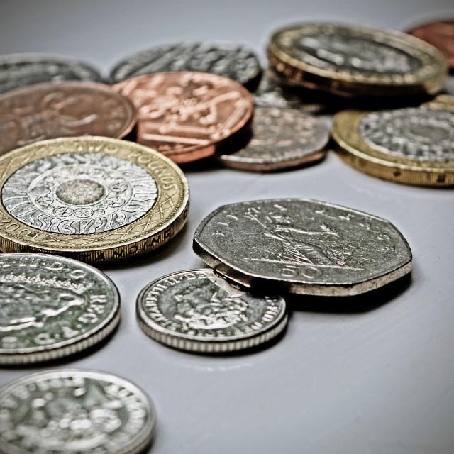 """British Coin"" stock image"