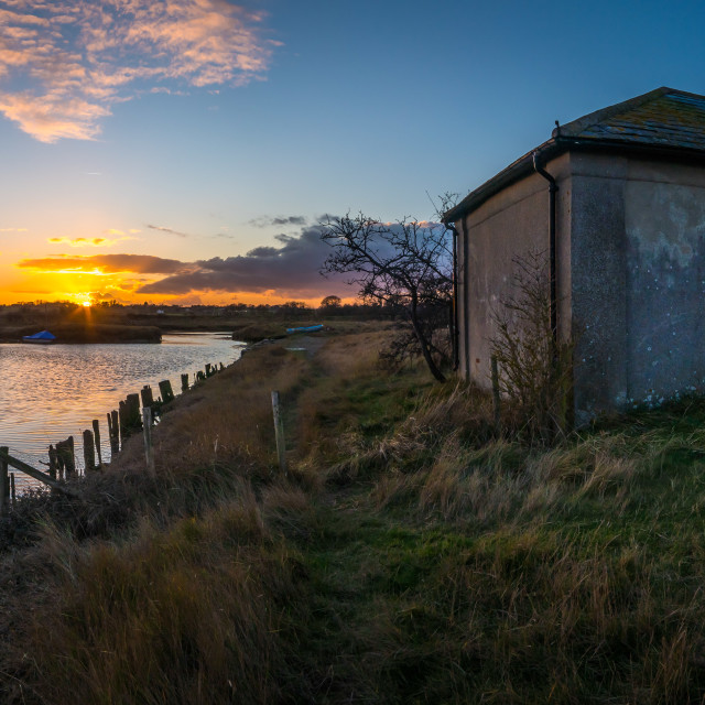 """Beaumont Quay January Sunset"" stock image"