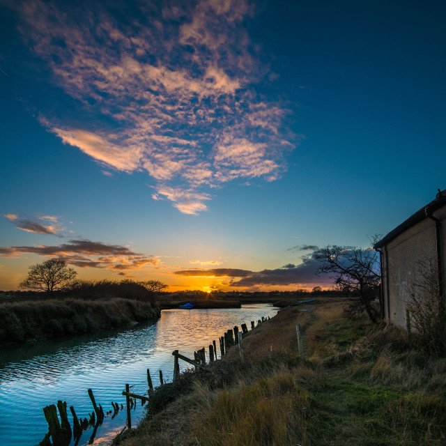 """Beaumont Quay Sunset on Horizon"" stock image"
