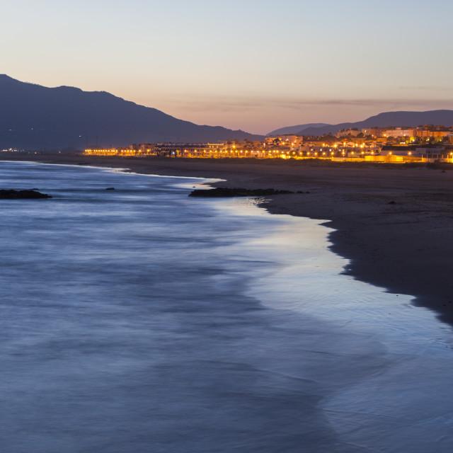 """Panorama of Tarifa"" stock image"