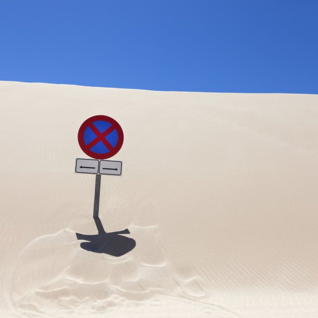 """Dunes of Tarifa"" stock image"