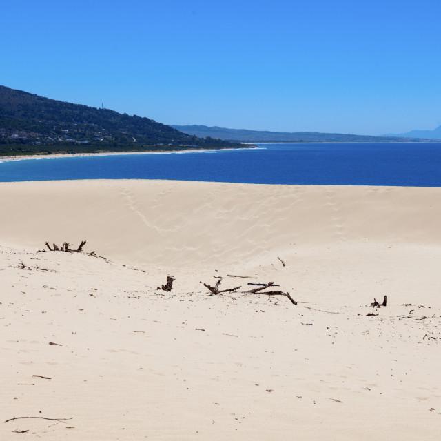 """Sand Dunes in Tarifa, Spain"" stock image"