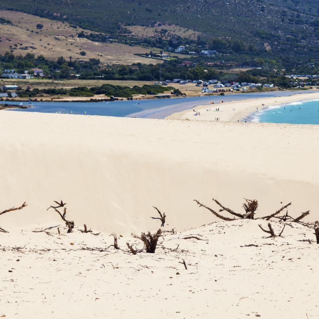 """The dunes of Tarifa"" stock image"