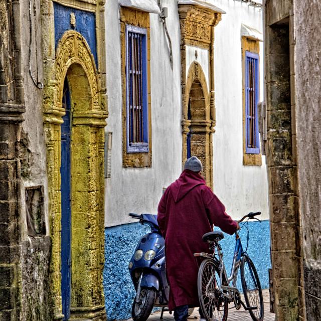 """Essaouira street; Morocco"" stock image"
