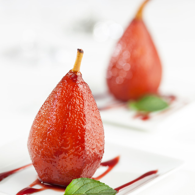 """""""Pears in wine"""" stock image"""