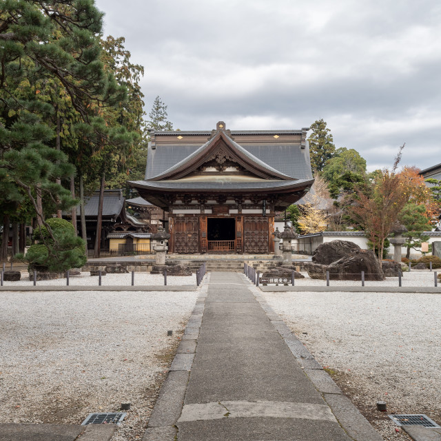 """Temple in rural Japan."" stock image"