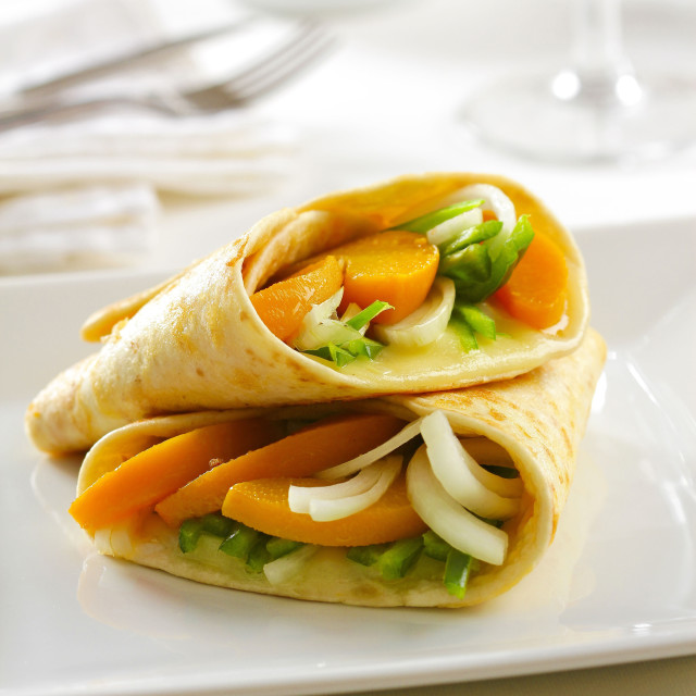 """Vegetable wrap"" stock image"