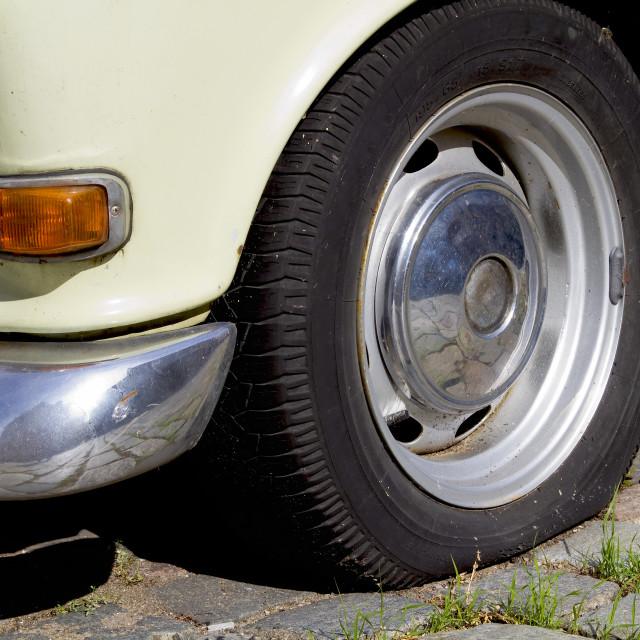 """Old abandoned car"" stock image"