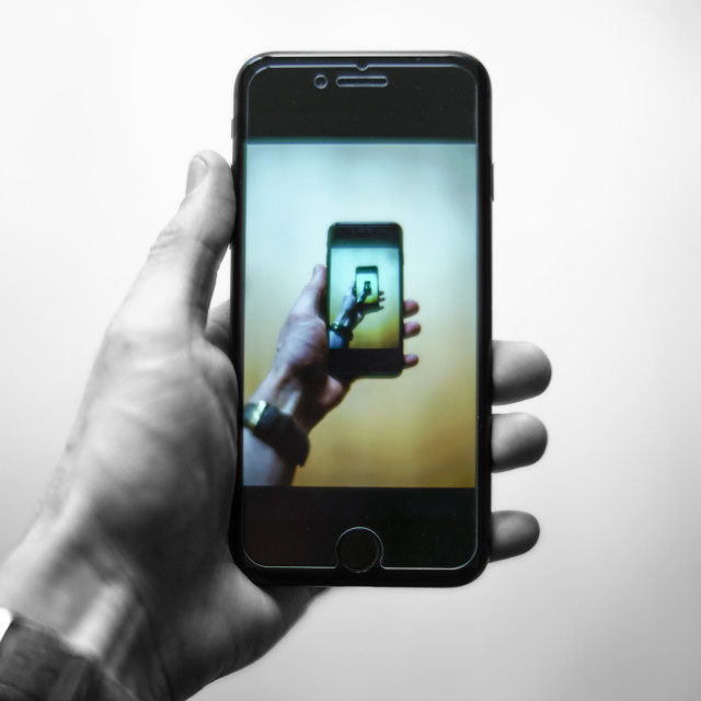 """""""Phone Inception."""" stock image"""