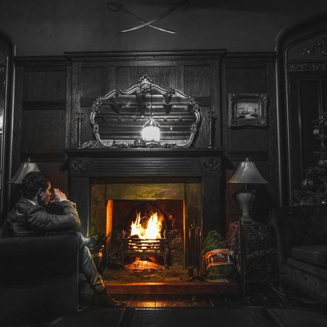 """Luxury Fireplace."" stock image"