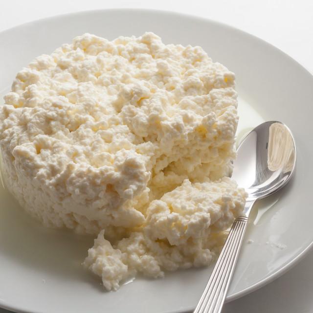 """Ricotta cheese"" stock image"