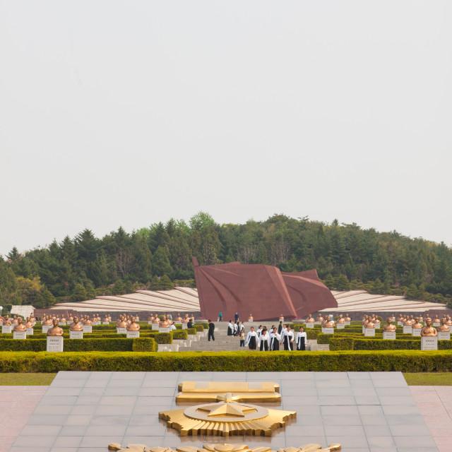 """Taesongsan revolutionary martyr's cemetery, Pyongan Province, Pyongyang,..."" stock image"
