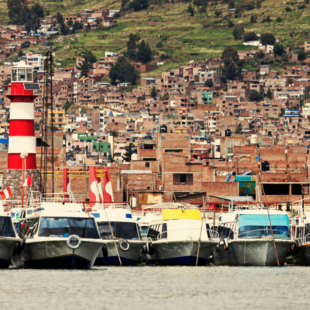 """Lighthouse in Puno"" stock image"