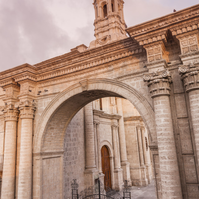 """""""Cathedral on Plaza de Armas in Arequipa"""" stock image"""
