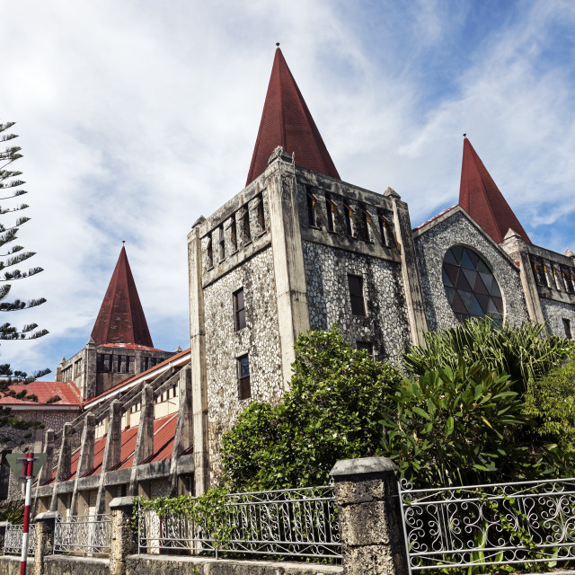 """""""Cathedral in downtown of Nuku'Alofa"""" stock image"""