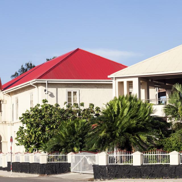 """""""Tongan Parliament building in Nuku'alofa"""" stock image"""