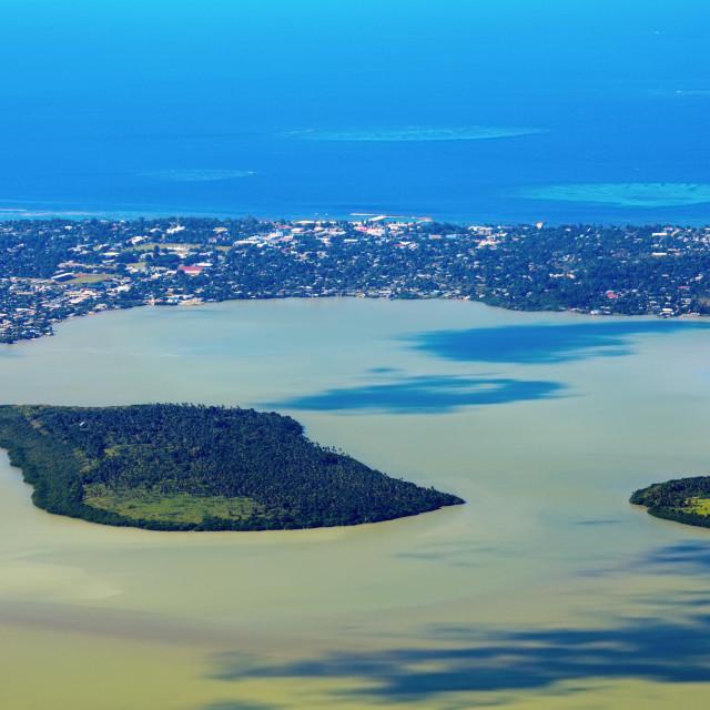 """Aerial Nuku'Alofa and Tongatapu Island"" stock image"