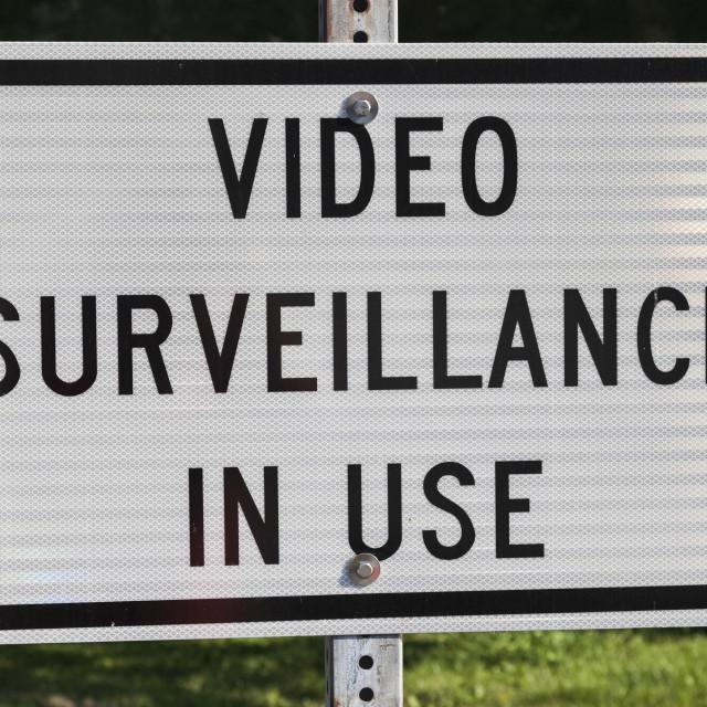 """Video surveillance sign"" stock image"
