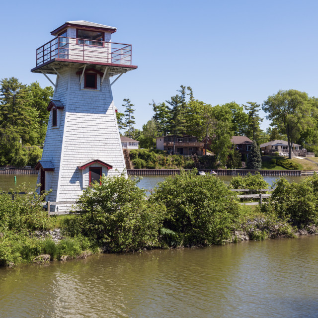 """Nancy Island Lighthouse by Lake Huron"" stock image"