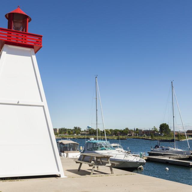 """Collingwood Lighthouse by Lake Huron"" stock image"