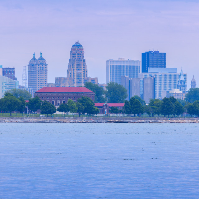 """Panorama of Buffalo across Niagara River"" stock image"