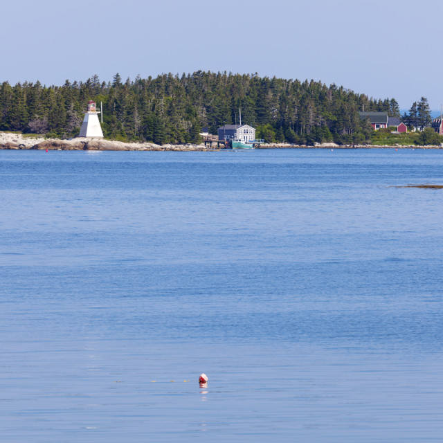 """Indian Harbour Lighthouse in Nova Scotia"" stock image"