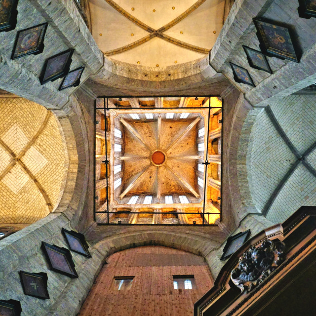 """Ceiling of Saint Nicholas' Church, Gent"" stock image"