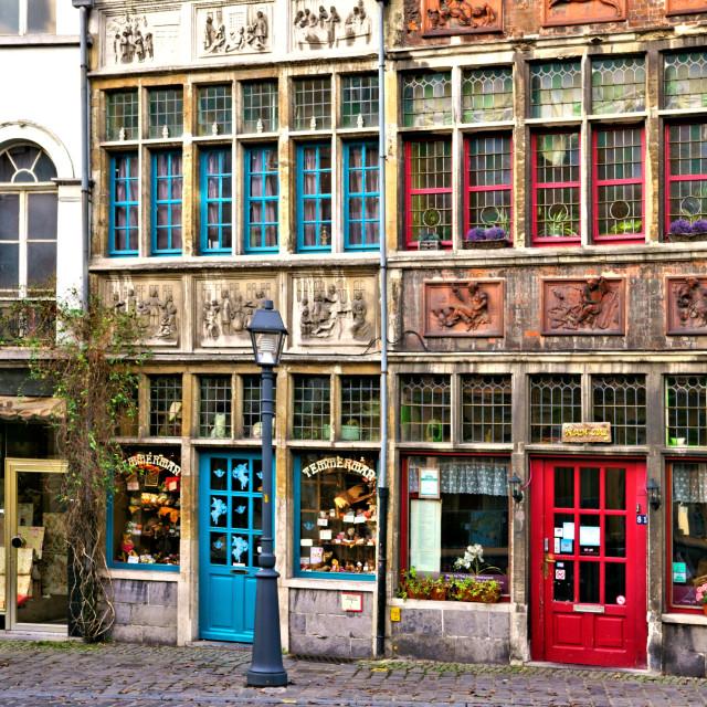 """""""Street in Gent, Belgium"""" stock image"""