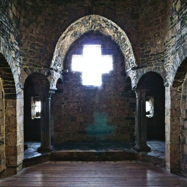 """Chapel in Gravensteen Castle"" stock image"