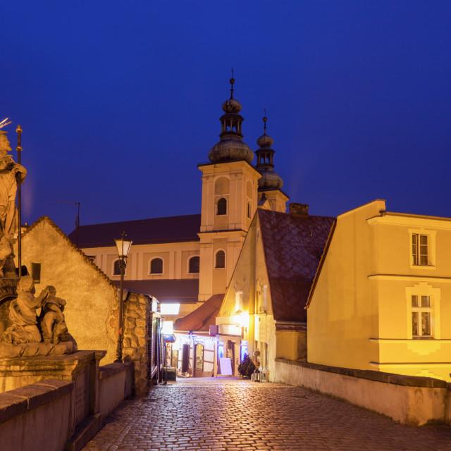 """Evening in Klodzko, Poland"" stock image"