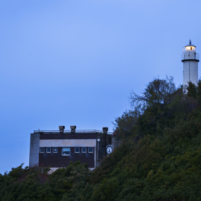 """""""Lighthouse in Genoa"""" stock image"""