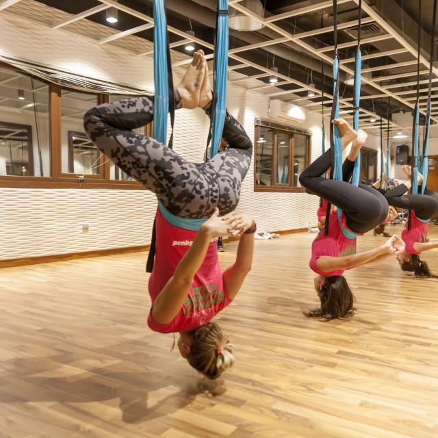 """""""Swing yoga"""" stock image"""