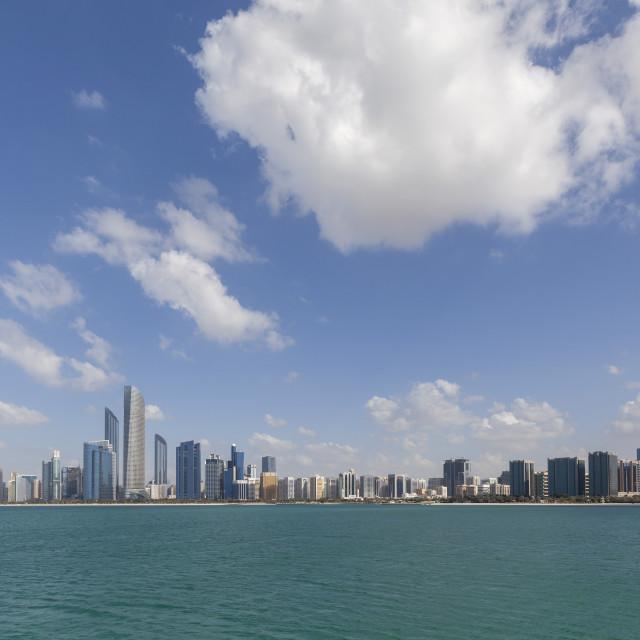 """""""Cityscape of Abu Dhabi"""" stock image"""