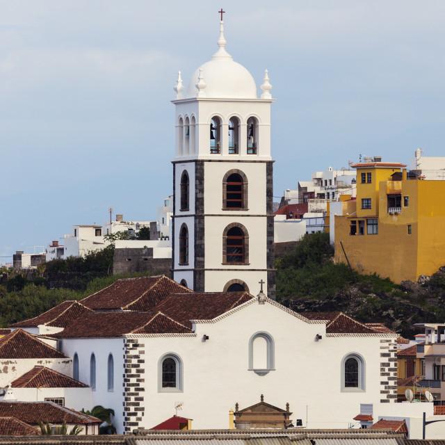 """Church in Garachico"" stock image"