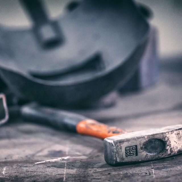 """Industrial hammer"" stock image"