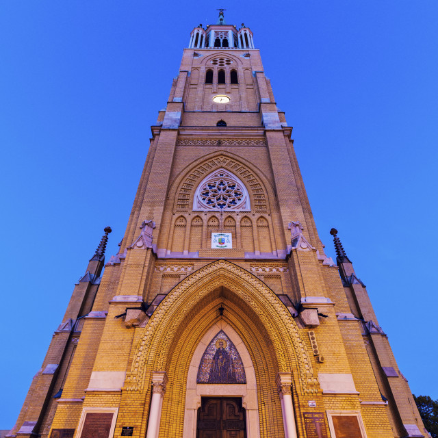 """Basilica of St Stanislaw Kostka in Lodz"" stock image"