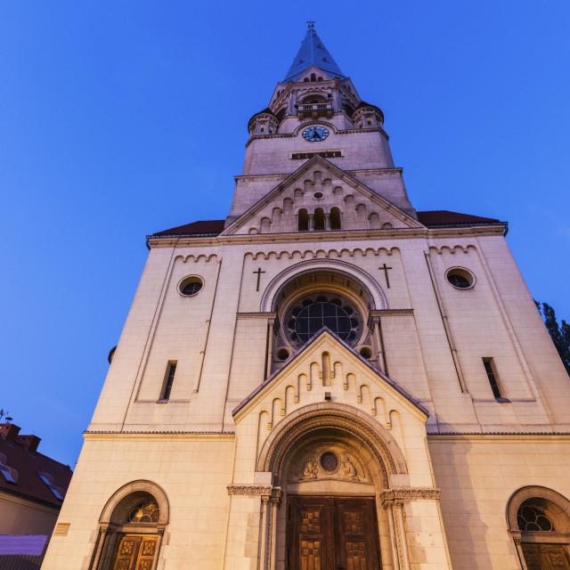 """St. Matheus Church in Lodz"" stock image"