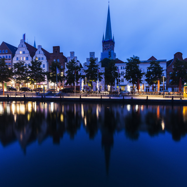 """""""Lubeck and Trave River"""" stock image"""