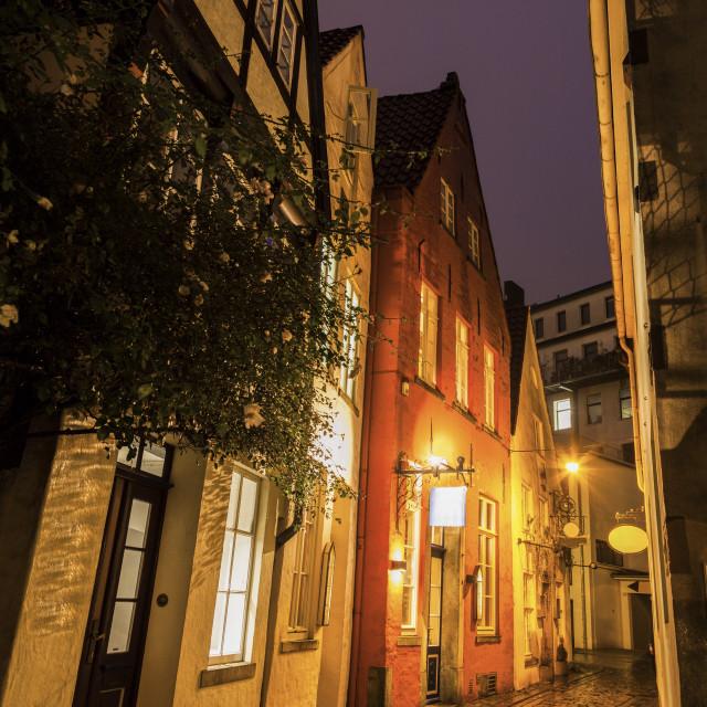 """""""Der Schnoor - Old architecutre of Bremen"""" stock image"""