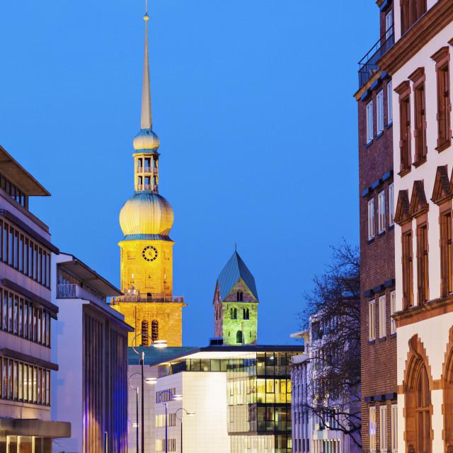 """St. Reinoldi Church in Dortmund"" stock image"