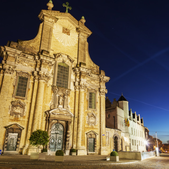 """Church of Saints Peter and Paul on Veemarkt in Mechelen"" stock image"